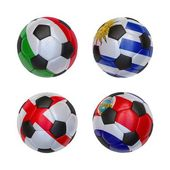 Soccer balls with flags of Uruguay, Costa Rica, England, Italy — Foto Stock