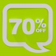 Sale sign on green background — Stock Photo