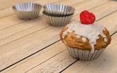 Valentine's muffin — Stock Photo