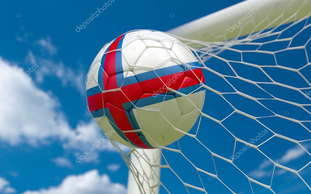 法罗群岛国旗和足球球