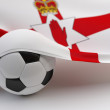 Northern Ireland flag with championship soccer ball — Stockfoto #50648795