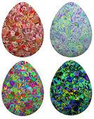 Four Egg Designs — Stock Photo