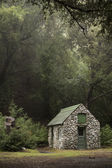 Small Stone Cabin in the Woods — Stock Photo