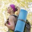 Young Woman Hiking — Stockfoto