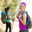 Two Women Hiking — Stock Photo #35875195