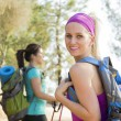 Two Women Hiking — Stock Photo
