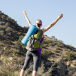 Young Woman Hiking — Foto de Stock