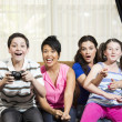 Happy Family Playing Video Games — Stock Photo