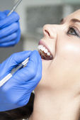 Young Woman at the Dentist's Office — Stock Photo