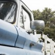 old blue pickup truck — Stock Photo
