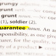 """Guarantee"" Definition highlighted — Stock Photo"