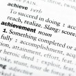 "ストック写真: Dictionary definition of ""Achievement"""