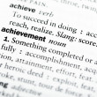 "Stock Photo: Dictionary definition of ""Achievement"""