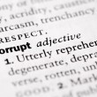 "Dictionary definition of ""Corrupt"" — Stock Photo #36741453"