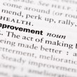 "Stock Photo: Dictionary definition of ""Improvement"""