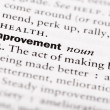 "Dictionary definition of ""Improvement"" — Stock Photo"