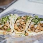 Three chicken tacos — Stock Photo #36741833