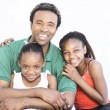 Father with his two daughters — Stock Photo