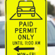 Permit parking sign — Stock Photo