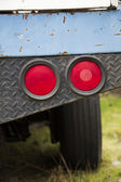 Tail lights on a blue pickup truck — Stock Photo