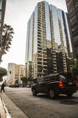 Downtown, sen eftermiddag — Stockfoto