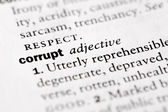 "Dictionary definition of ""Corrupt"" — Stock Photo"