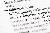 "Dictionary definition of ""Excellence"" — Stock Photo"