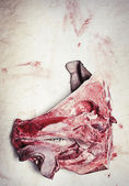 Slaughtered pigs head — Stock Photo