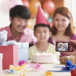 Family Having Their Picture Taken at Their Son's Birthday — Stock Photo