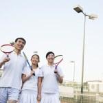 Family playing tennis — Stock Photo #36084189