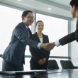 Businessmen Greeting Each Other with a Handshake — Stock Photo