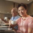 Senior couple sharing tea — Stock Photo #36086017
