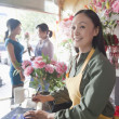 Florist Working In Flower Shop — Stock Photo