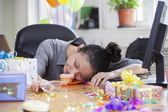 Asleep After Party at Office — Stock Photo