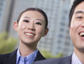 Two young business people — Stock Photo