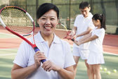 Tennis coach, portrait — Stock Photo