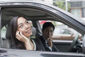 Professional Business People In Car — Stock Photo