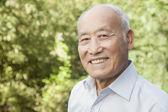 Elderly Man outdoors — Stock Photo