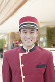Portrait of Bellhop — Stock Photo