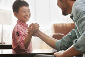 Father and Son Arm Wrestling — ストック写真