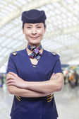 Portrait of air stewardess — Stock Photo