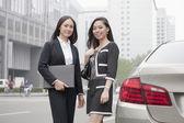 Businesswomen Standing On Road — Stock Photo