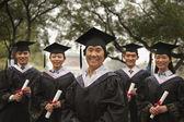 Professor and Graduates — Stock Photo