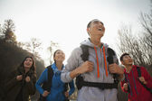 Young people hiking — Stock Photo