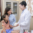 Doctor Talking with Mother and Daughter — Stock Photo #36348089