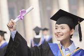 Diploma van afgestudeerde bedrijf — Stockfoto