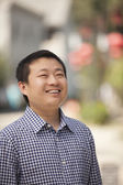Man in Nanluoguxiang — Stock Photo