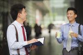 Businessmen meeting outdoor — Stock Photo