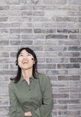 Young Woman Laughing — Stock Photo