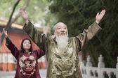 Chinese People Practicing Tai Ji — Stock Photo